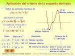 aplicaci n del criterio de la segunda derivada