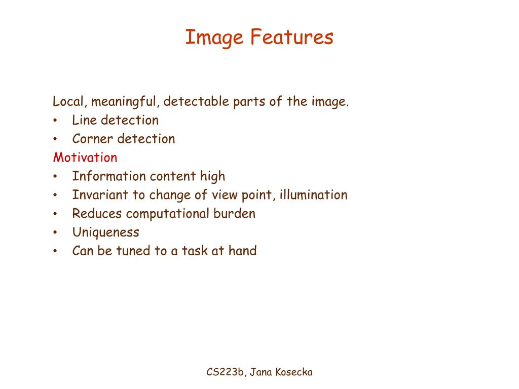 image features