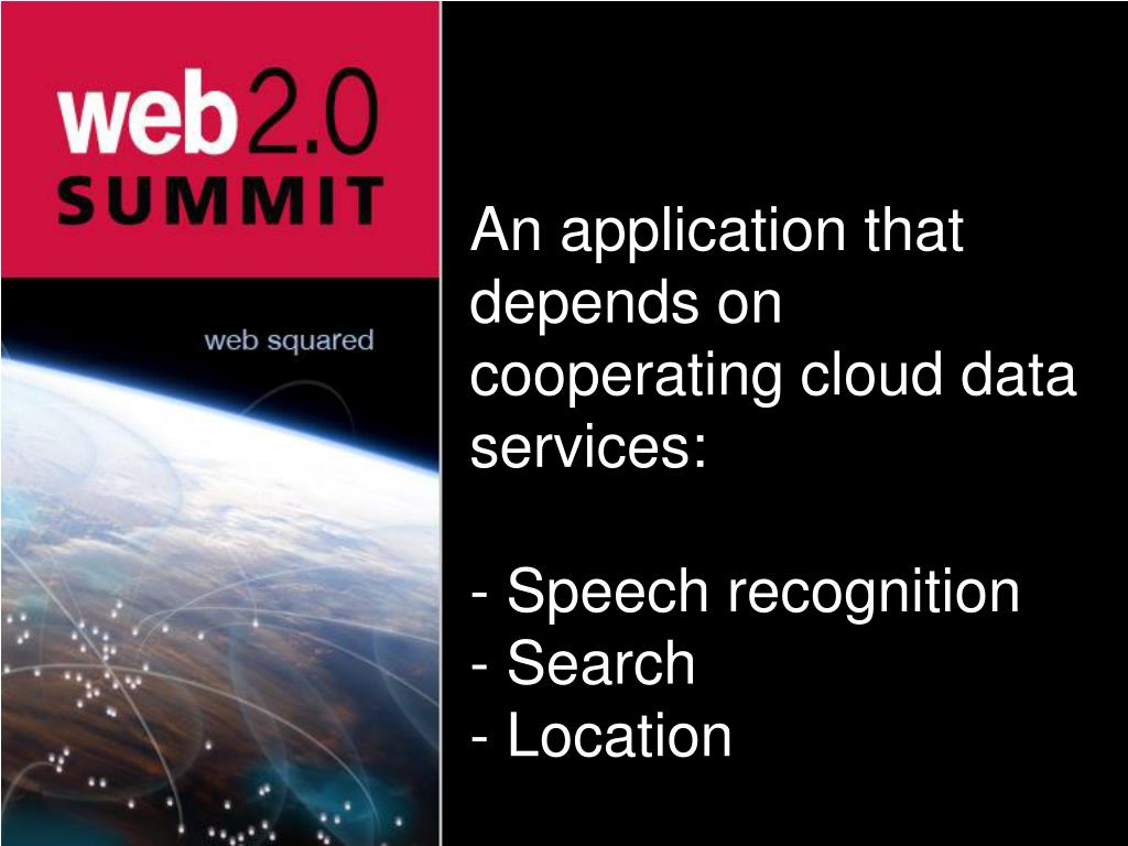 An application that depends on cooperating cloud data services: