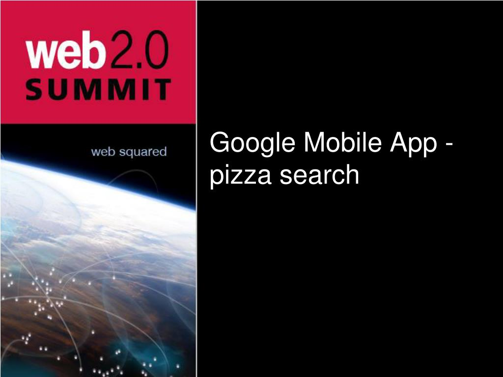 Google Mobile App - pizza search