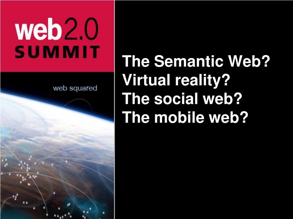 The Semantic Web?