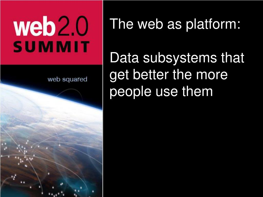 The web as platform: