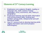 elements of 21 st century learning29