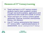 elements of 21 st century learning30