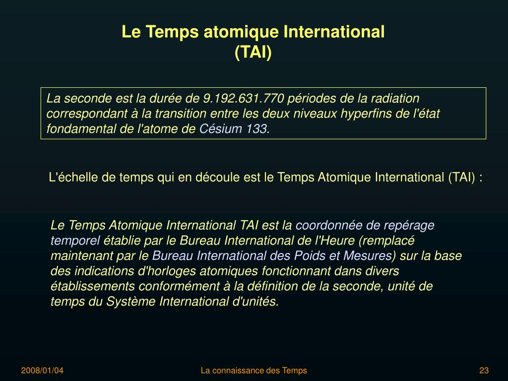 Le Temps atomique International