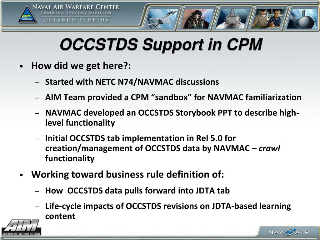 OCCSTDS Support in CPM