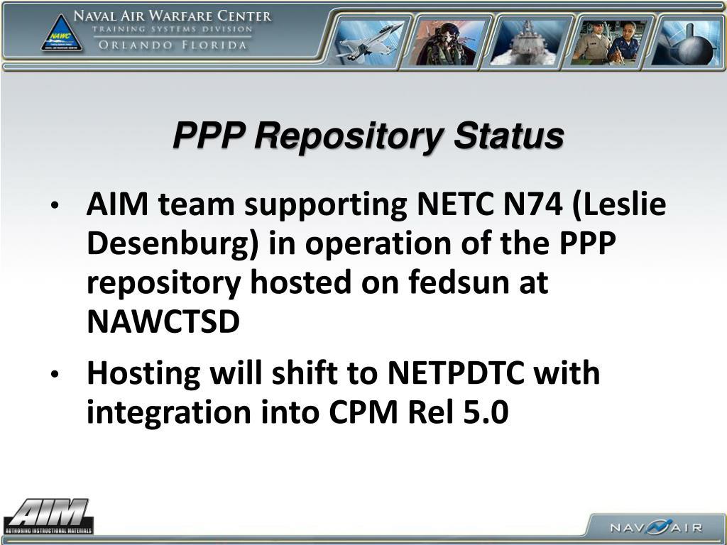 PPP Repository Status