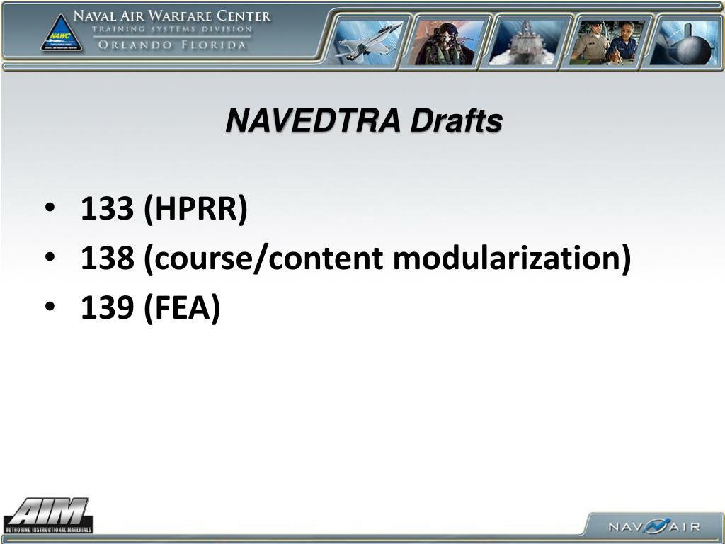 NAVEDTRA Drafts