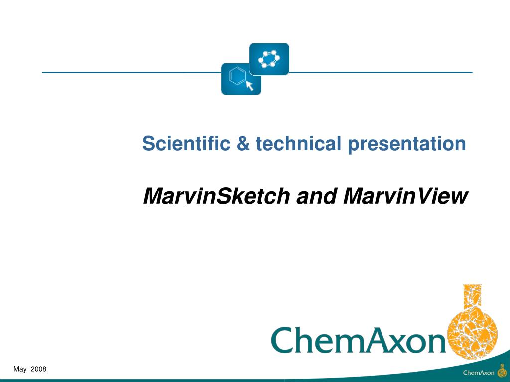 scientific technical presentation marvin sketch and marvinview