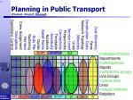 planning in public transport product project planned