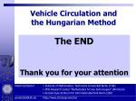 vehicle circulation and the hungarian method70