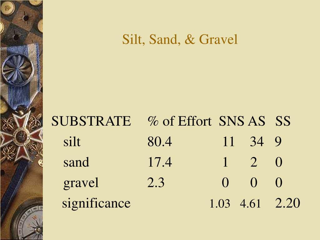 Silt, Sand, & Gravel