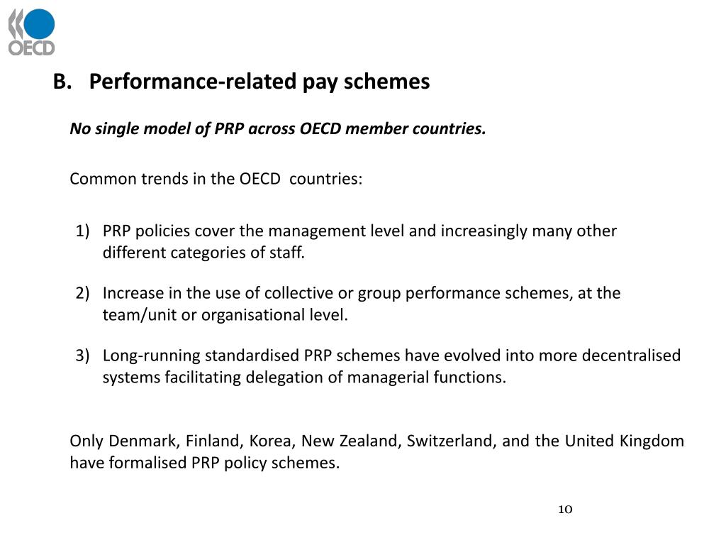 Performance-related pay schemes