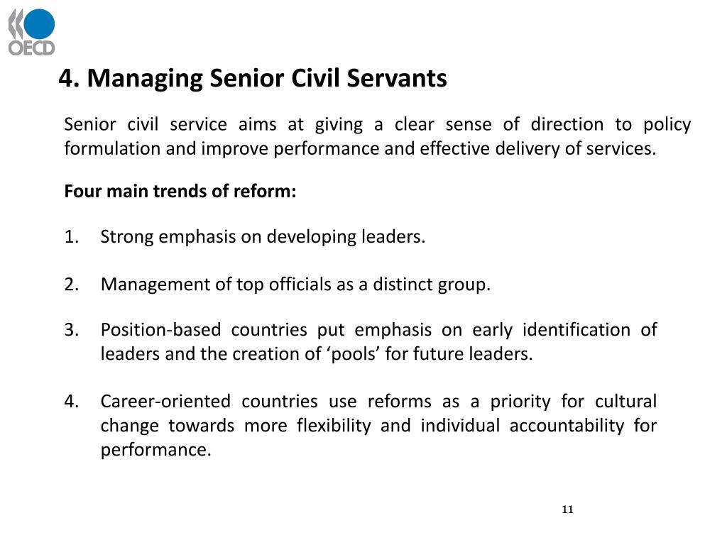 4. Managing Senior Civil Servants