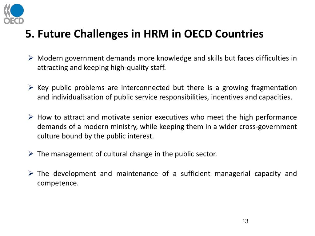 5. Future Challenges in HRM in OECD Countries