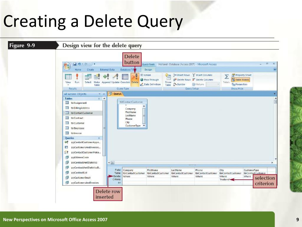 Creating a Delete Query