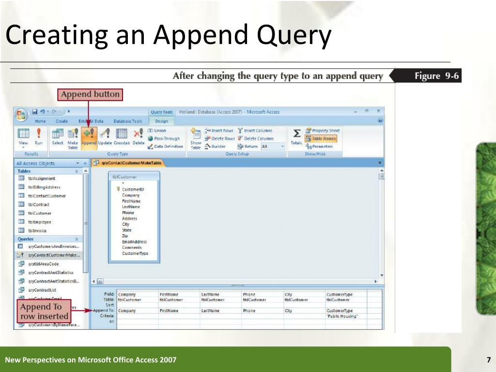 Creating an Append Query