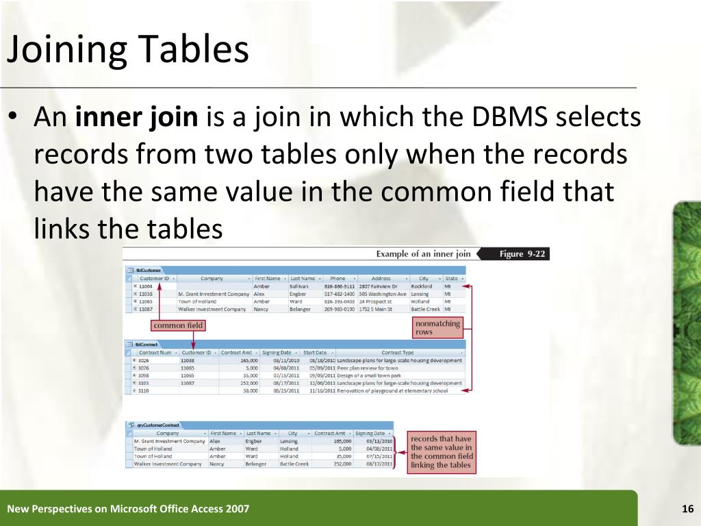 Joining Tables