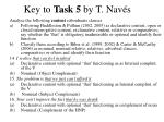 key to task 5 by t nav s