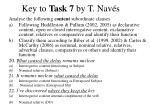 key to task 7 by t nav s