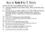 key to task 8 by t nav s