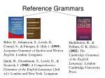 reference grammars