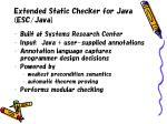 extended static checker for java esc java