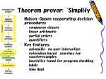 theorem prover simplify