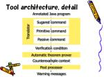 tool architecture detail