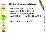 weakest preconditions28