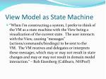 view model as state machine