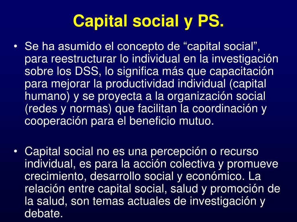 Capital social y PS.