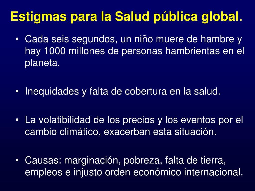 Estigmas para la Salud pública global