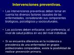 intervenciones preventivas