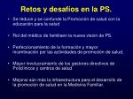 retos y desaf os en la ps