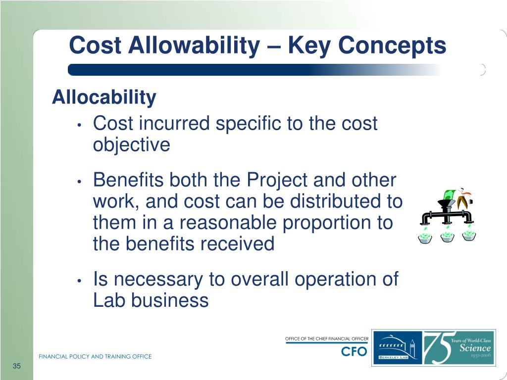 Cost Allowability – Key Concepts