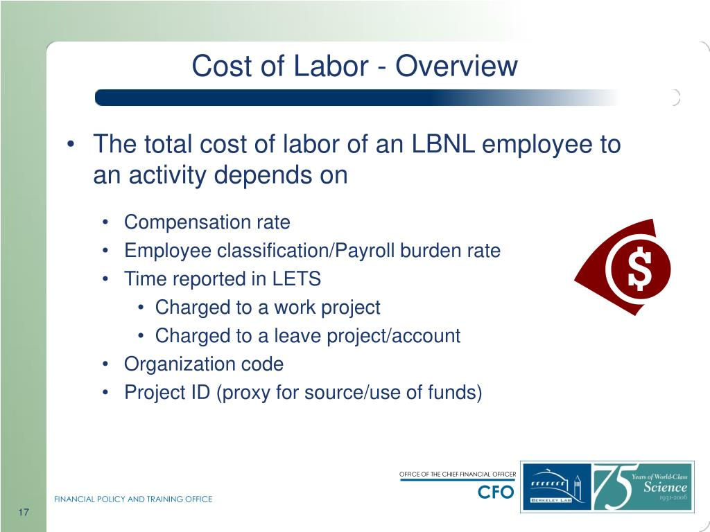 Cost of Labor - Overview