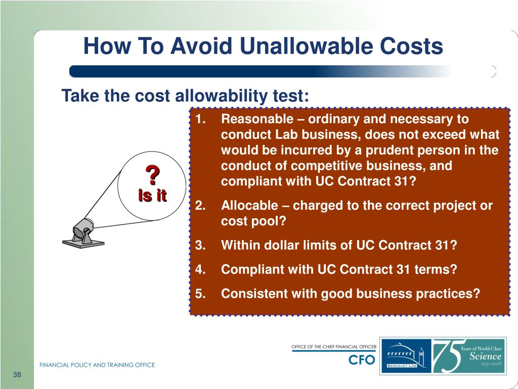 How To Avoid Unallowable Costs
