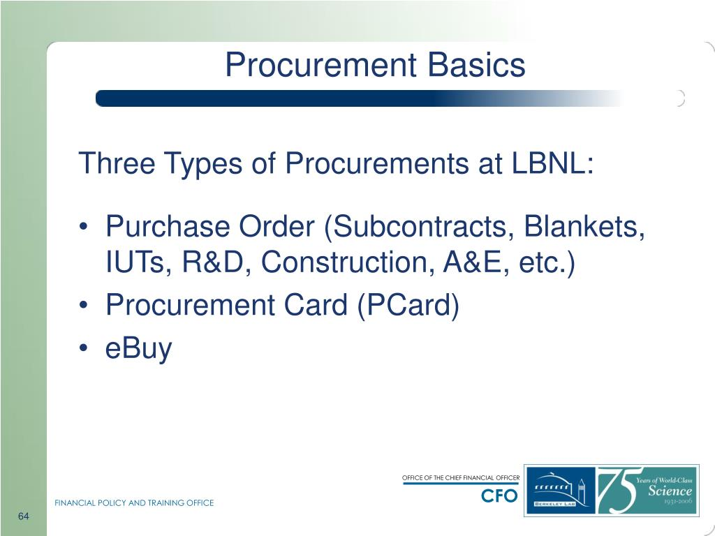 Procurement Basics