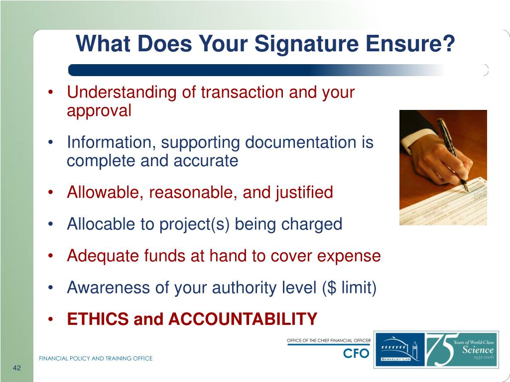 What Does Your Signature Ensure?