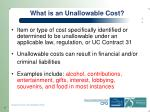 what is an unallowable cost