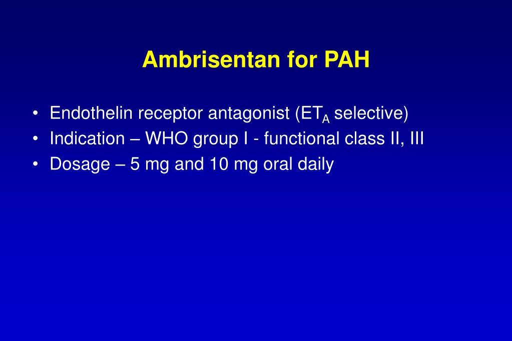 Ambrisentan for PAH