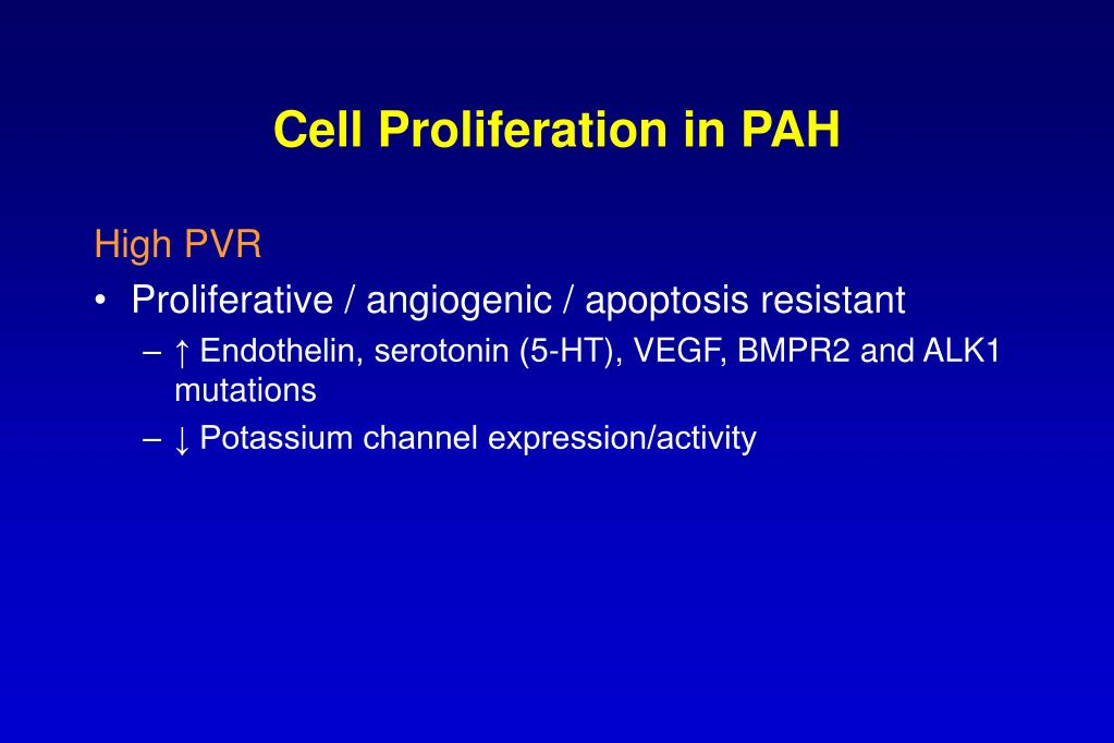 Cell Proliferation in PAH