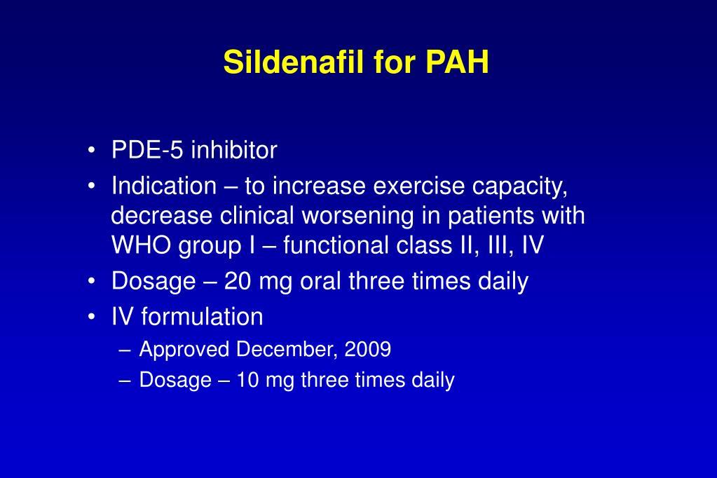 Sildenafil for PAH