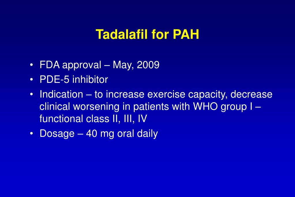 Tadalafil for PAH
