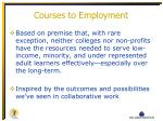 courses to employment