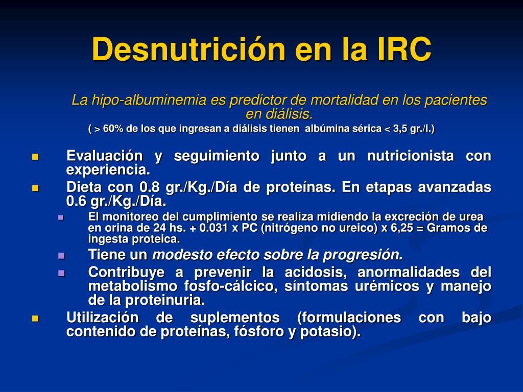 Desnutrición en la IRC