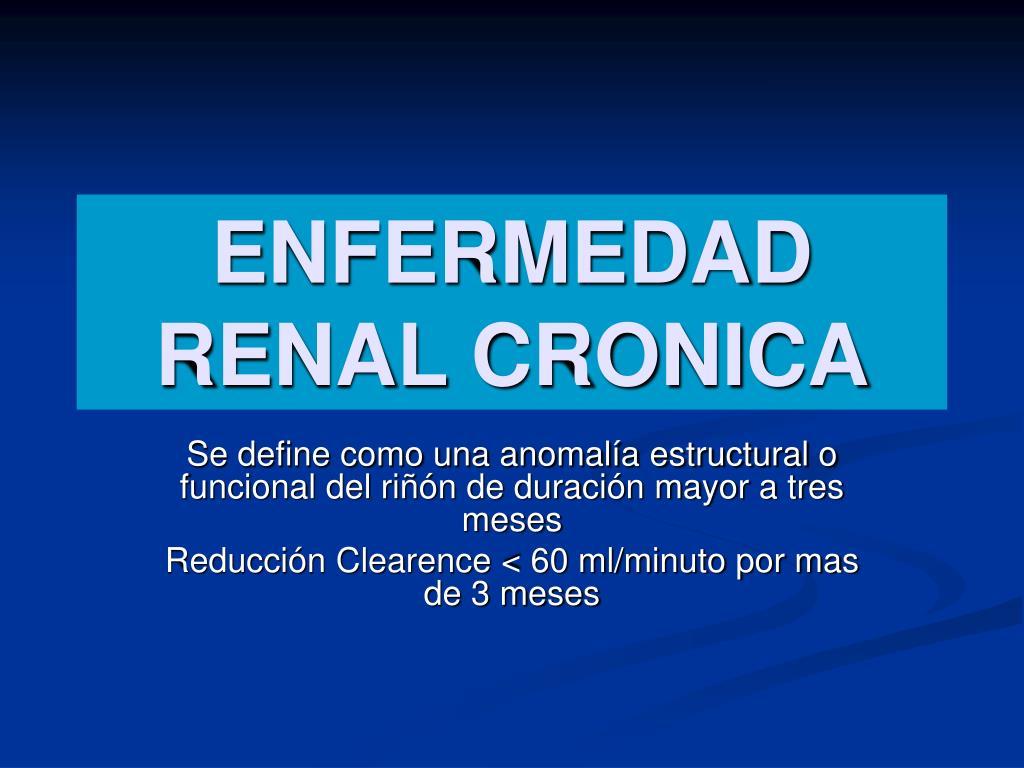 enfermedad renal cronica