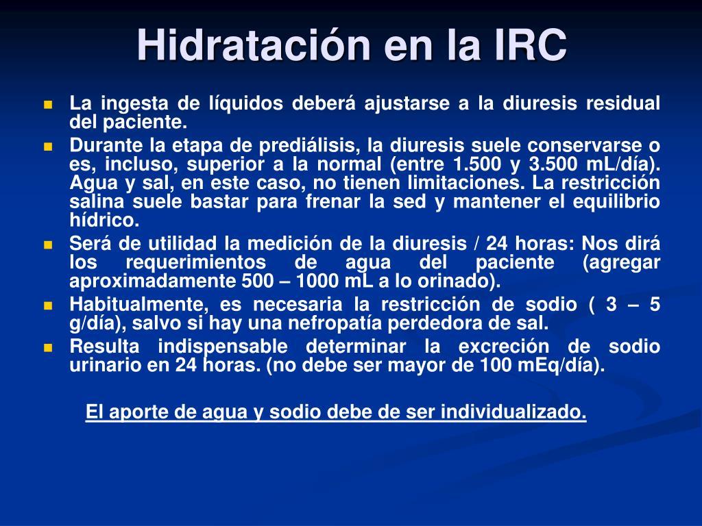 Hidratación en la IRC