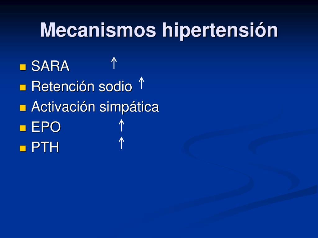 Mecanismos hipertensión